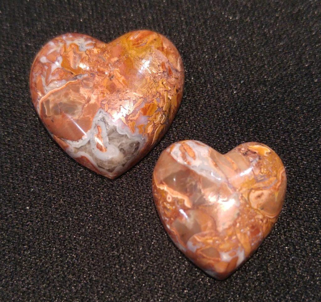 Butterfly Jasper Hearts